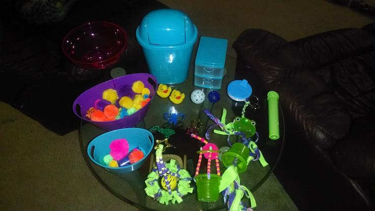 ... mini trash can filing cabinet mint container mu0026m container only for tent time because they love to stick there heads in it and forging toys & GliderGossip - Help on toys?