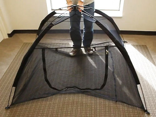 Mesh fabric on all walls and floor free standing quick assemble and collapse and super portable. The Happy Habitat can be purchased HERE or on AMAZON . & GliderGossip - Greatest sugar glider tent ever
